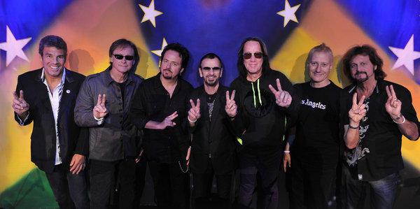 Ringo Starr, center, and his All Starr Band will perform two shows in November in Las Vegas, their only U.S. appearances.