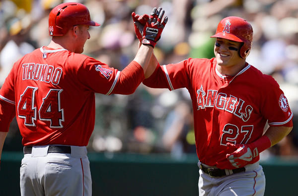 Mark Trumbo, Mike Trout