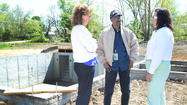 A blessing of the foundation was held Wednesday for the third house, the first for a military veteran, in Habitat for Humanity of the Eastern Panhandle's Auburndale subdivision.