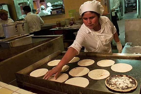 "Tortillas are made from scratch at Guelaguetza.<br><br><b>Details:</b> 3014 W. Olympic Blvd., Los Angeles, (213) 427-0608; <a href=""http://ilovemole.com/"" target=""_blank""> ILoveMole.com</a>"