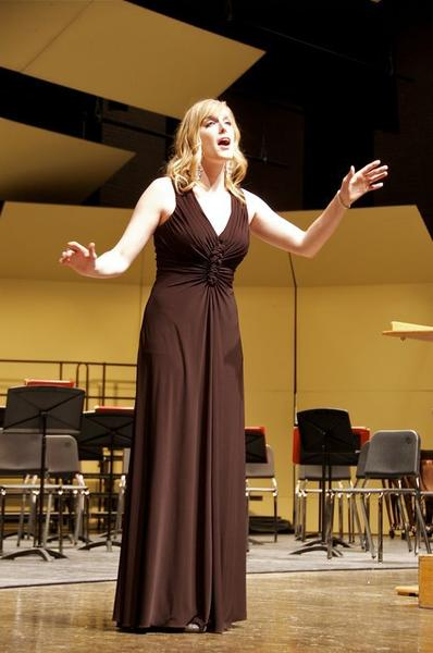 Northern State University student Megan Rose Case, who graduates Saturday, received a full-ride scholarship to pursue a masters of music in vocal performance at the University of Colorado.