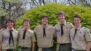 Five young men became Eagle Scouts at an April 29 ceremony at Asbury United Methodist Church.