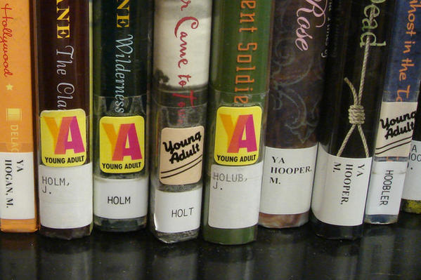 YA books in a library