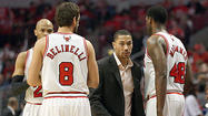 "Coach Tom Thibodeau and Kirk Hinrich strongly defended Derrick Rose after Wednesday's practice at the Berto Center, answering questions about TNT broadcaster and former Bull Steve Kerr's comments that Rose ""maybe owes it to his teammates"" to return from left knee surgery because others are playing through injury."