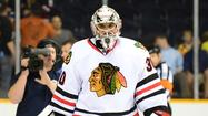 Ray Emery was on the ice Thursday, and then he wasn't. And the Chicago Blackhawks goalie won't be seen much Friday, either.