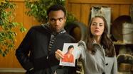 "Donald Glover and Alison Brie in ""Community."""