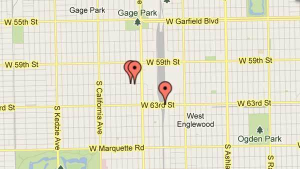 Robberies in the Chicago Lawn police district