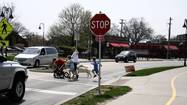 During a recent discussion of pedestrian traffic on Harlem Avenue near the Glenview Public Library and the Glenview Metra station, officials agreed to add white stripes to a crosswalk to make it more visible.