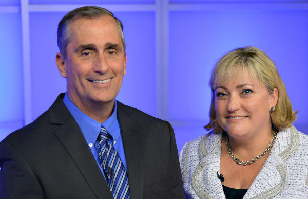 Brian Krzanich will become chief executive at Intel, with Rene James named as president.