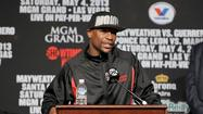 Undefeated pro boxer Floyd Mayweather Jr. puts his spotless record and his World Boxing Council welterweight title on the line Saturday night against Robert Guerrero