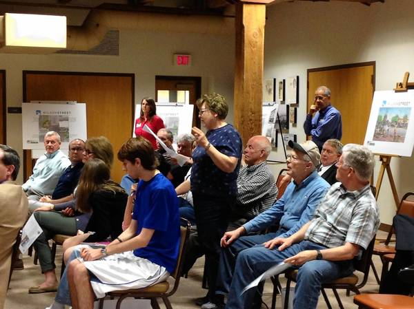 "Batavia residents at a ""kick-off"" meeting about the Wilson Street project."