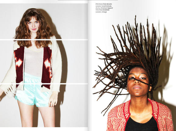 Features spread from University of Chicago's MODA fashion magazine, named one of the best college fashion publications in the country by Teen Vogue.