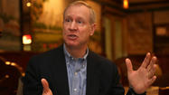 Venture capitalist Bruce Rauner, who is exploring a run for governor, has resigned as chairman of the board of Choose Chicago, the non-profit agency that serves as the city's convention and tourism bureau.