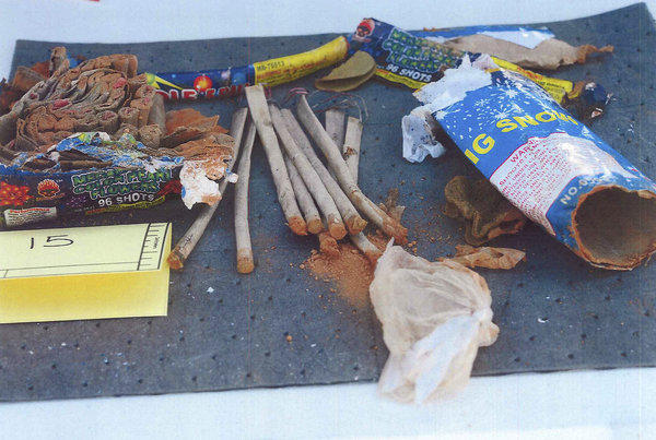 Fireworks found by authorities in Boston bombings suspect Dzhokhar Tsarnaev's backpack.