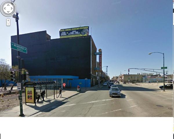 Two signs were proposed for the building located at 2616-18 N. Milwaukee Ave. in the Logan Square Boulevards District.