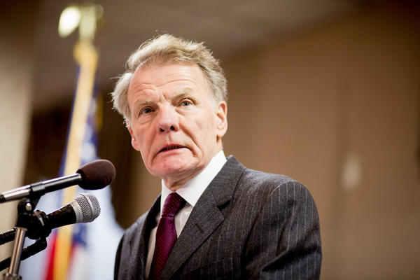 House Speaker Michael Madigan addressing the International Brotherhood of Electrical Workers in Springfield last month.