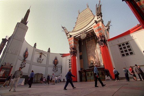 The former Grauman's Chinese Theatre has closed for renovations.