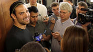 Mark Sanchez, sporting long locks secured with a stylish soccer-style headband, took the high road on Thursday when he spoke to members of the media for the first time since the NFL draft, during which the New York Jets drafted West Virginia quarterback Geno Smith in the second round.