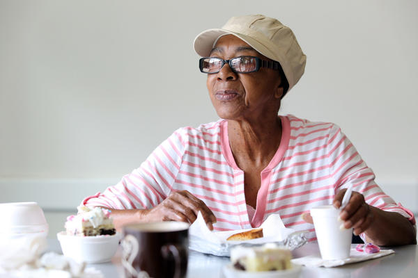 Lurline Fletcher, 68, is among the seniors at a meal site that is being closed because of budget cuts, on Monday, April 29, 2013, at the the Hannibal Square Winter Park Community Center.