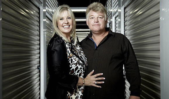 Husband-and-wife auctioneer team Dan and Laura Dotson from 'Storage Wars'