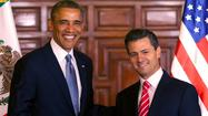 President Obama met in Mexico on Thursday with President Enrique Peña Nieto. Publicly, the two leaders focused on trade. That makes sense given the strong economic ties between the two nations and Peña Nieto's efforts to introduce more competition to Mexico's energy and telecommunications sectors in the hopes of boosting his country's economy.