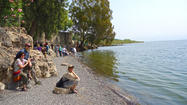 Christian tourists flock to the sea of Galilee