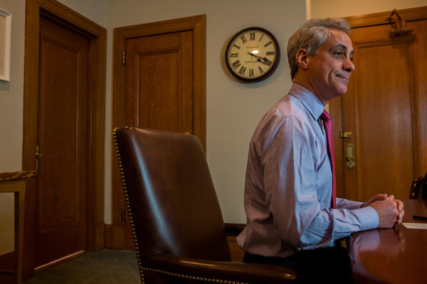 An interview with Mayor Rahm Emanuel at the City Hall in Chicago on Wednesday, May 1, 2013. (Zbigniew Bzdak/Chicago Tribune)