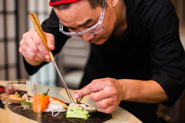 Sashimi moriawase at Kabocha Japanese Brasserie