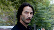 "At 48, Keanu Reeves is twice the age of his nubile costar Adelaide Clemens in ""Generation Um..."" and the generation gap might explain why they spend the film staring at each other blankly. Reeves plays John, a driver for an escort service who works nights shuttling Mia (Clemens), a placid baby-doll blond, and her raging cokehead partner, Violet (Bojana Novakovic, often pants-less)."