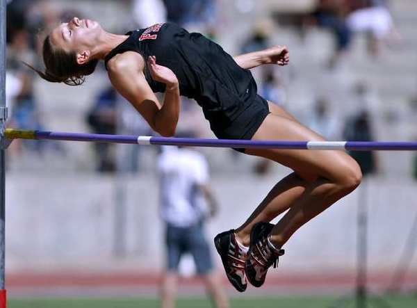 Flintridge Sacred Heart Academy's Madzie MacVaugh qualified for CIF in the 4x400 relay and the high jump.