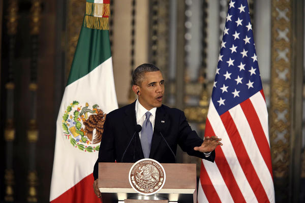 President Obama's visit to Mexico is meant to emphasize economic links between the two countries, among other cross-border issues.