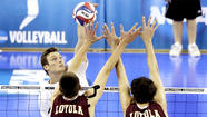 Loyola of Chicago ended its first trip to the NCAA men's volleyball championships with a semifinal loss to UC Irvine at Pauley Pavilion on Friday.