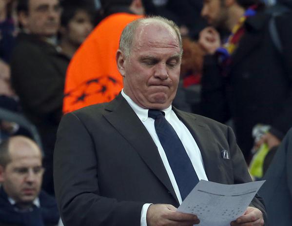 Bayern Munich's president Uli Hoeness.