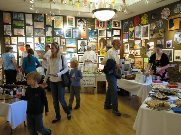 Guests enjoy the 2012 Culinary Arts Showcase at Crooked Tree Arts Center's Youth Art Show. The April Youth Arts Festival also includes a Young Writers Juried Exposition and this year's winning writers will be honored Saturday, May 4, at the arts center. They will be invited to read their poetry and prose aloud at Saturday's awards ceremony.