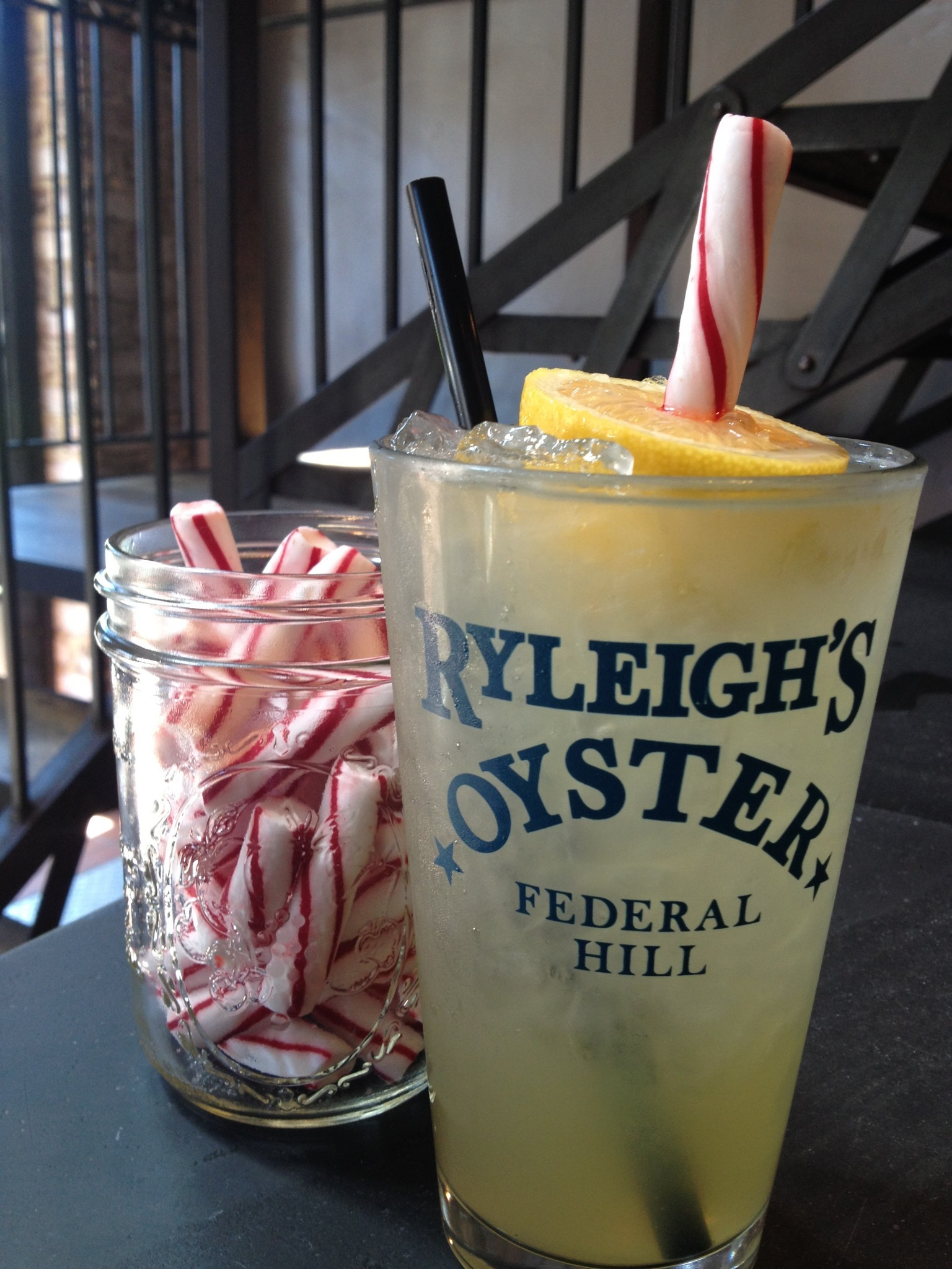 A Lemon Stick In A Glass At Ryleighs Oyster