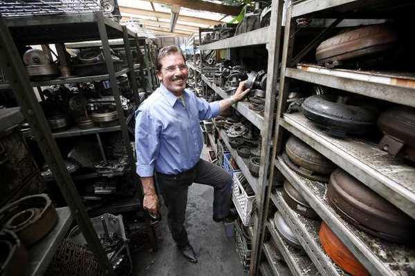 Goorgen Zargarian, owner of Arlen's Transmission Center, at his Burbank shop.