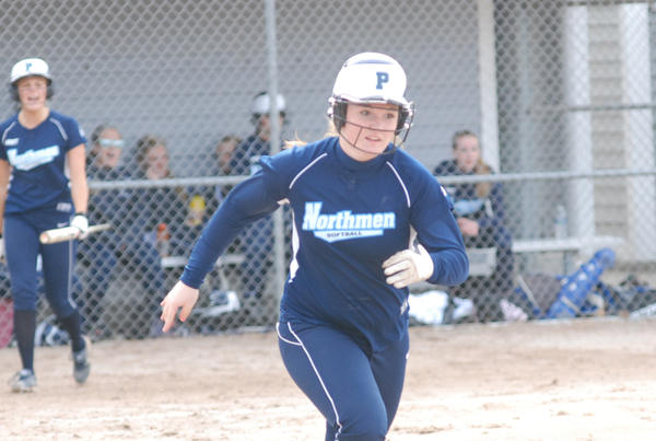 Petoskey sophomore first baseman Brianna Marshall had a pair of hits Thursday as the Northmen dropped a pair of Big North Conference contests to Alpena, 5-0, 12-1, in Alpena.