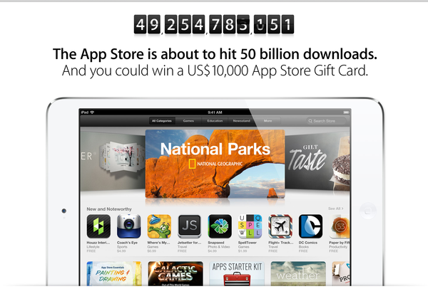 Apple App Store 50 billion
