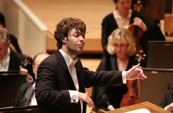 Spanish conductor Pablo Heras-Casado leads the Chicago Symphony Orchestra Thursday at the Symphony Center in Chicago.
