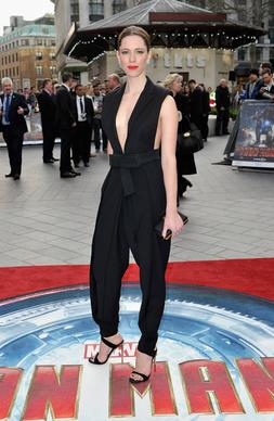 "Rebecca Hall attends a special screening of ""Iron Man 3"" at Odeon Leicester Square in London."