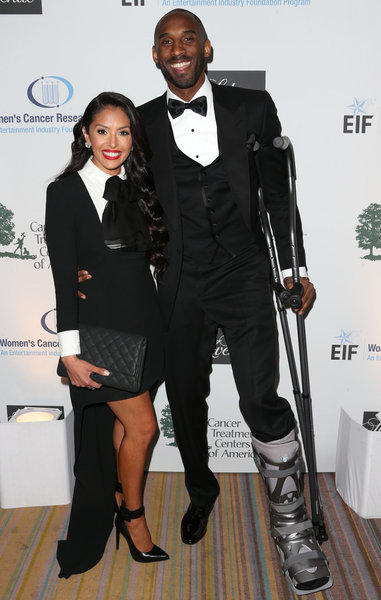 "Kobe Bryant and his wife, Vanessa, attend the EIF Women's Cancer Research Fund's 16th annual ""An Unforgettable Evening,"" presented by Saks Fifth Avenue."