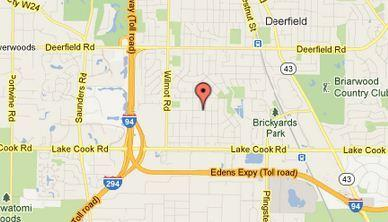 Map of the 300 block of Fairview Avenue in Deerfield.