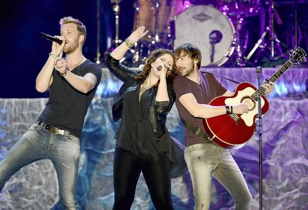 Charles Kelley, Hillary Scott and Dave Haywood of Lady Antebellum perform onstage during Stagecoach: California's Country Music Festival earlier this year.