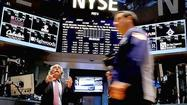 NEW YORK (Reuters) - Stocks slipped on Thursday, recovering from session lows as encouraging domestic economic data and a rally in Hewlett-Packard's shares offset concerns about the timing of any reduction in the Federal Reserve's monetary stimulus.
