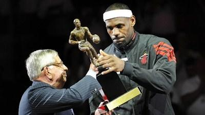 LeBron James on Sunday to be named 2013 NBA MVP