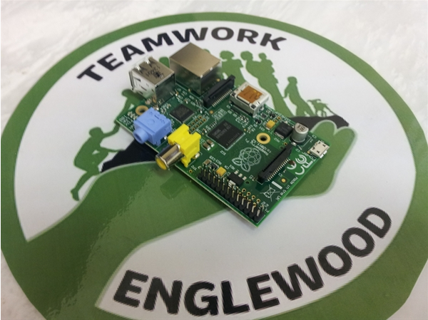 A Raspberry Pi, a small computing device, will be given to all Englewood Codes students