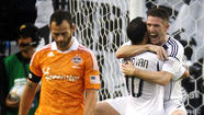The Galaxy on Sunday night gets its first look at this year's version of the Houston Dynamo, the club the Galaxy defeated in the MLS Cup the last two years to win consecutive Major League Soccer championships.