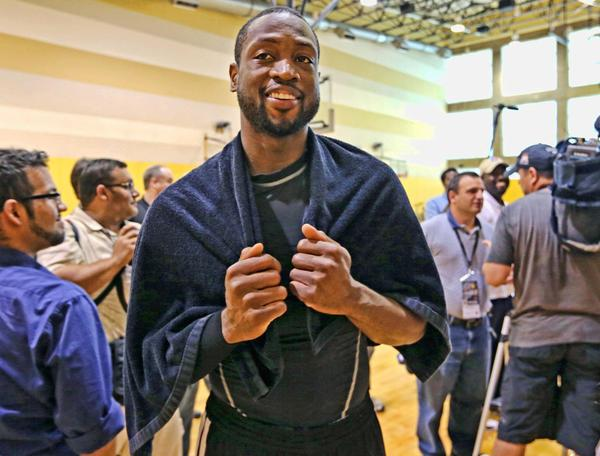 Dwyane Wade after practice at AmericanAirlines Arena on Friday May 3, 2013.