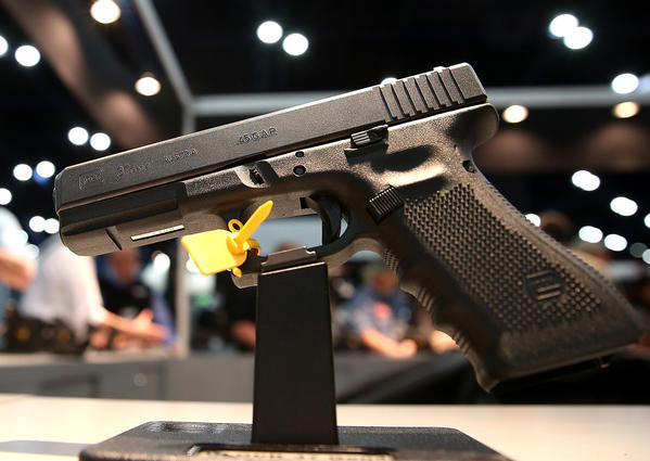 A handgun is displayed during the 2013 NRA Annual Meeting and Exhibits at the George R. Brown Convention Center in Houston, Texas. The guns involved in the vast majority of crimes are everyday handguns.