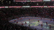 In the Blackhawks' most important moment of the season to date — Game 1 of the playoffs — no player had a bigger presence on the ice than <strong>Michal Rozsival.</strong>